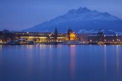 Vista svizzera del lago Immagini Stock Libere da Diritti