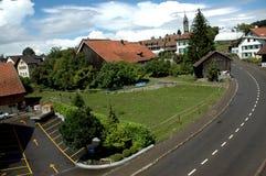 Vista svizzera tipica Fotografia Stock Libera da Diritti