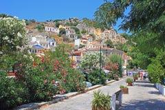 Vista, Symi, Grecia Fotografia Stock Libera da Diritti
