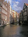 Vista típica de Amsterdão Fotos de Stock Royalty Free