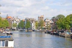 Vista típica de Amsterdão 7 fotos de stock royalty free