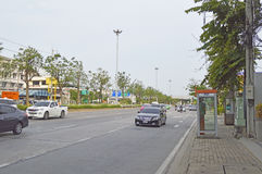 Vista Tailandia della via della strada di Minburi fotografie stock