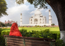 Vista a Taj Mahal Fotos de Stock