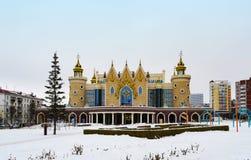 Vista tartara di inverno del teatro del burattino dello stato Repubblica di Tatarstan, Russia Fotografia Stock Libera da Diritti