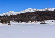 Vista in Tavate in Svizzera nell'inverno Immagini Stock Libere da Diritti