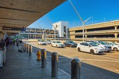 Vista terminale dell'aeroporto di Los Angeles nominata da Tom Bradley fotografie stock