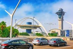 Vista terminale dell'aeroporto di Los Angeles nominata da Tom Bradley immagine stock