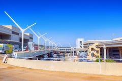 Vista terminale dell'aeroporto di Los Angeles nominata da Tom Bradley immagini stock libere da diritti