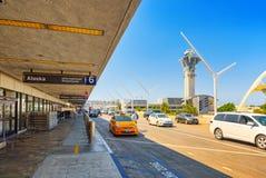 Vista terminale dell'aeroporto di Los Angeles nominata da Tom Bradley fotografia stock libera da diritti