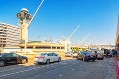 Vista terminale dell'aeroporto di Los Angeles nominata da Tom Bradley fotografie stock libere da diritti