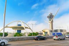 Vista terminale dell'aeroporto di Los Angeles nominata da Tom Bradley immagine stock libera da diritti