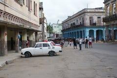 Vista tipica della via a Avana Fotografia Stock