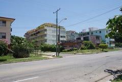 Vista tipica della via a Avana Fotografia Stock Libera da Diritti