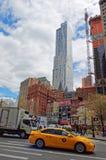 Vista tipica della via di New York Fotografia Stock Libera da Diritti