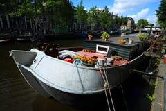 Vista tipica di Amsterdam Fotografia Stock