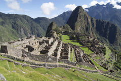 Vista tipica di Machu Picchu, Perù Fotografia Stock