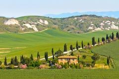Vista tipica di paesaggio della Toscana Fotografia Stock