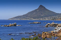 Vista to the Lion's head - landscape. Vista to the Lion's head with sea and rugged coastline - landscape Royalty Free Stock Photos