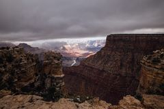 Grand Canyon vista. A vista from the top of the Grand Canyon Stock Images