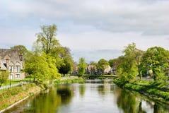 Vista tranquila del río Kent en Kendall Imagen de archivo