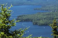 Vista tranquilla del lago Sunapee nell'estate, Newbury, nuovo Hampsh immagine stock libera da diritti