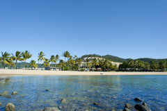 Vista tranquilo da praia de Airlie, Queensland Fotografia de Stock Royalty Free