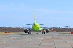 Vista traseira a bordo do Airbus plano A320 Foto de Stock