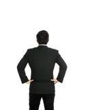 Vista traseira com mão do homem de negócios no quadril Fotos de Stock