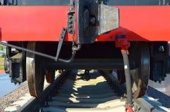 Vista traseira de um vagão de carvão Foto de Stock Royalty Free