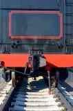 Vista traseira de um vagão de carvão Fotografia de Stock