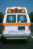 Vista trasera de la ambulancia Imágenes de archivo libres de regalías