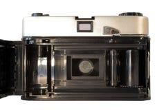 Vista trasera de la cámara de la película de la vendimia Fotos de archivo libres de regalías
