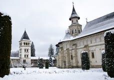 Vista trasera del monasterio de Putna Imagenes de archivo