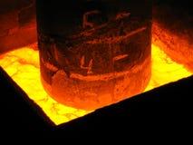 Vista trattata metallurgica del primo piano Immagine Stock