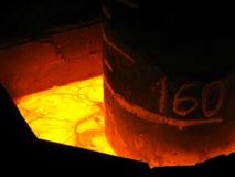 Vista trattata metallurgica del primo piano Fotografia Stock