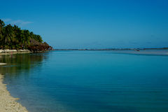 Vista tropical. foto de stock royalty free