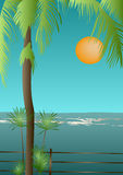 Vista tropical Fotografia de Stock Royalty Free