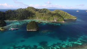 Vista of Tropical Lagoon in Raja Ampat stock footage