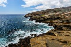 Vista tropicale, allerta di Lanai, Hawai Fotografie Stock