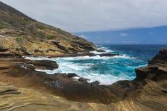 Vista tropicale, allerta di Lanai, Hawai Fotografie Stock Libere da Diritti