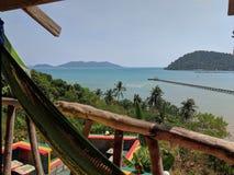 Vista tropicale del mare in Tailandia fotografia stock
