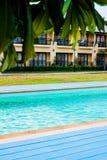 Vista tropicale della località di soggiorno in Tailandia fotografie stock libere da diritti