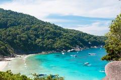 Vista tropicale di paradiso Fotografia Stock