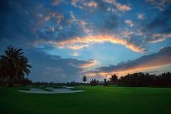 Vista tropicale di sera fotografia stock libera da diritti