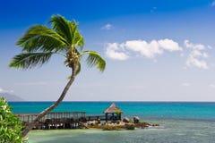 Vista tropicale di vista sul mare Fotografia Stock