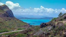 Vista tropicale hawaiana Fotografie Stock