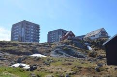 Vista turística de Nuuk, capital de Groenlandia Imagenes de archivo