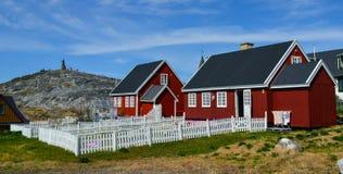 Vista turística de Nuuk, capital de Groenlandia Fotos de archivo libres de regalías