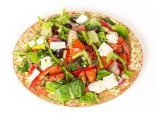 Vista turca dell'insalata tre quarti Immagini Stock Libere da Diritti