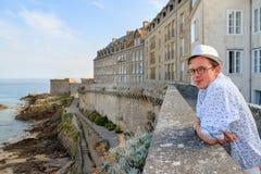 Vista turistica Saint Malo di vista sul mare Fotografie Stock Libere da Diritti